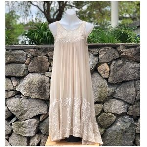 Tracy Reese Couture Vintage Boho Cream Dress.